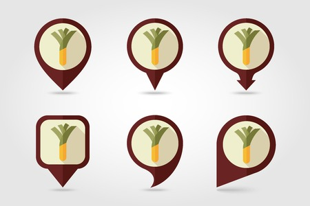 leek: Leek mapping pins icons with long shadow