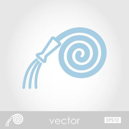 spring out: Icono de vector Manguera de jard�n