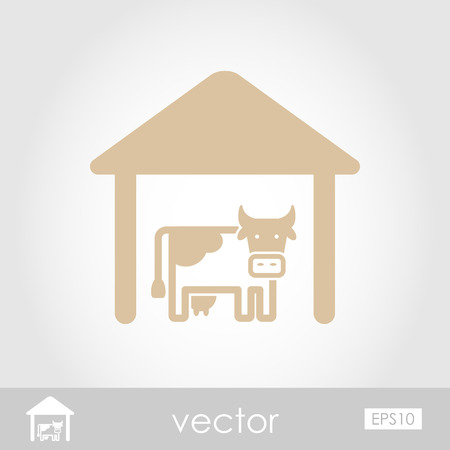granary: Cowshed vector icon