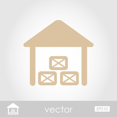 shed: Shed vector icon Illustration