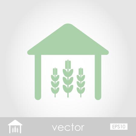 storehouse: Icono de vector Granero
