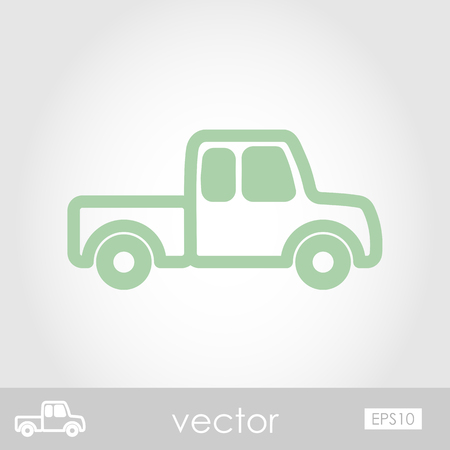 haul: Pickup truck  vector icon Illustration