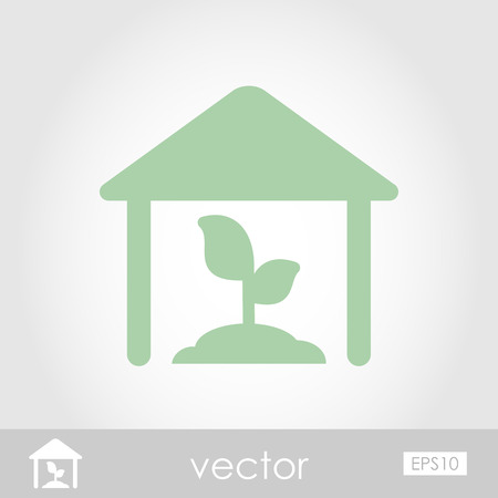 conservatory: Greenhouse vector icon