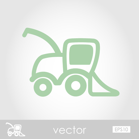 Combine harvester vector icon