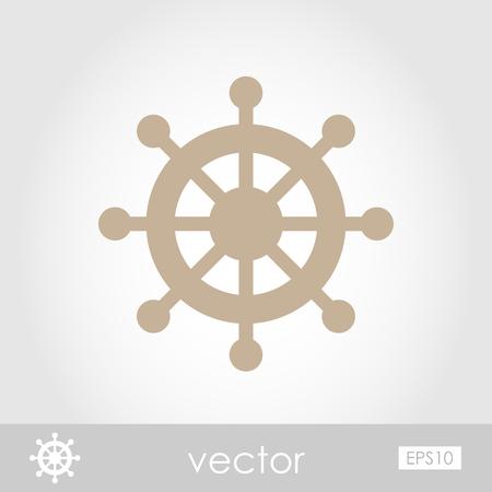 ship steering wheel: Ship Steering Wheel vector icon, eps 10