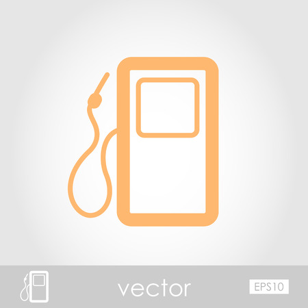 benzine: Gas Station vector icon outline, eps 10