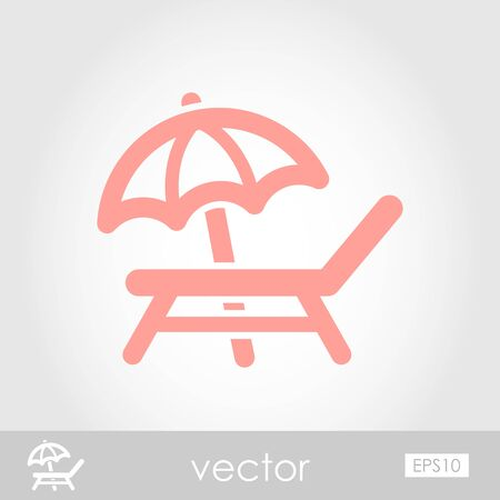 recliner: Lounger Beach Sunbed Chair vector icon, eps 10