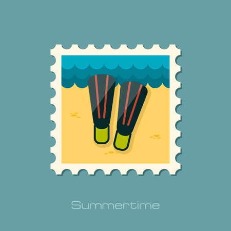 flippers: Flippers flat stamp