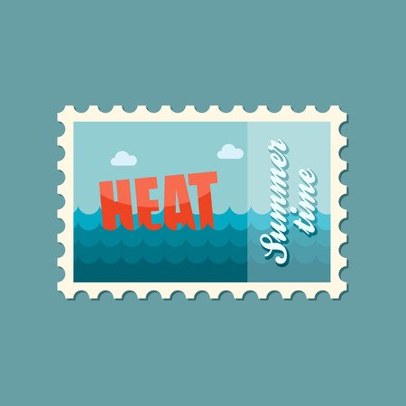 heat: Heat flat stamp summertime