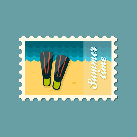 flippers: Flippers flat stamp summertime
