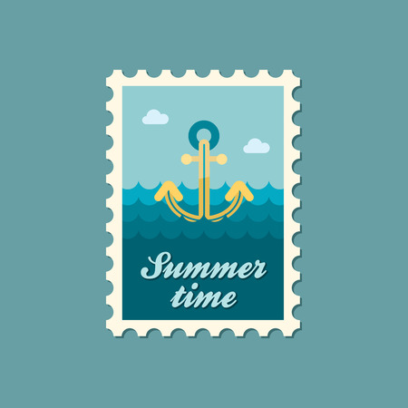 summertime: Anchor flat stamp summertime