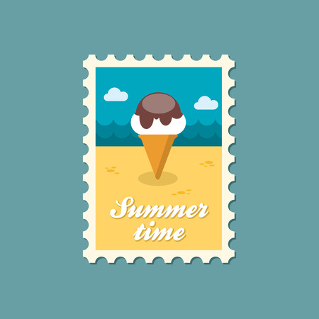 summertime: Ice Cream flat stamp summertime