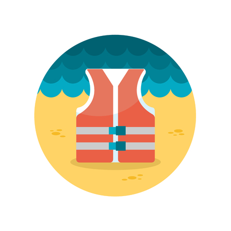 safe guard: Lifejacket flat icon