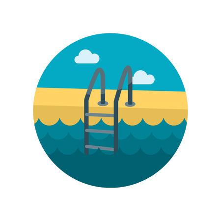 swimming: Swimming pool flat icon