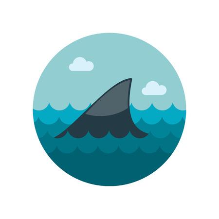 shark fin: Shark fin icon