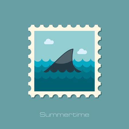 shark fin: Shark fin flat stamp