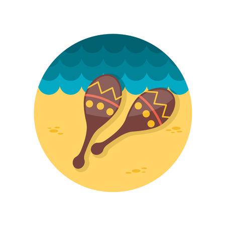 maracas: Maracas flat icon Illustration