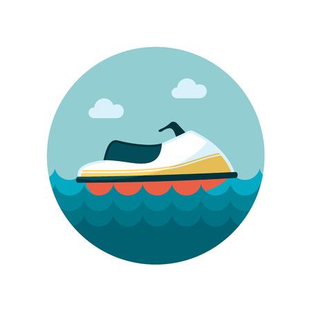 jet ski: Jet Ski flat icon