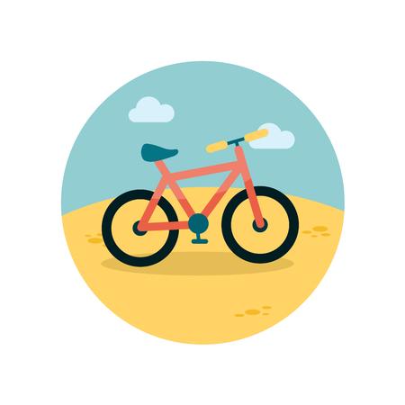bicyclette: Vélos icône plat