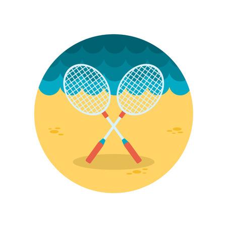 badminton: Badminton Racket flat icon Illustration