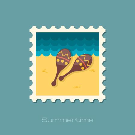 maracas: Maracas flat stamp Illustration
