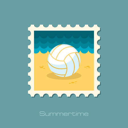 volleyball: Volleyball flat stamp