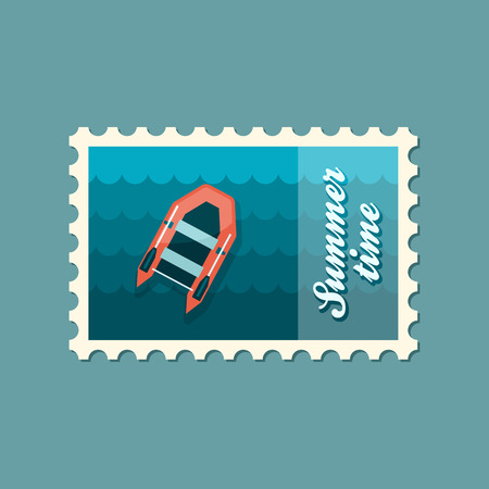 poststempel: Schlauchboot Flachtempel