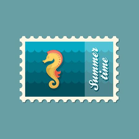 sea horse: Sea Horse flat stamp