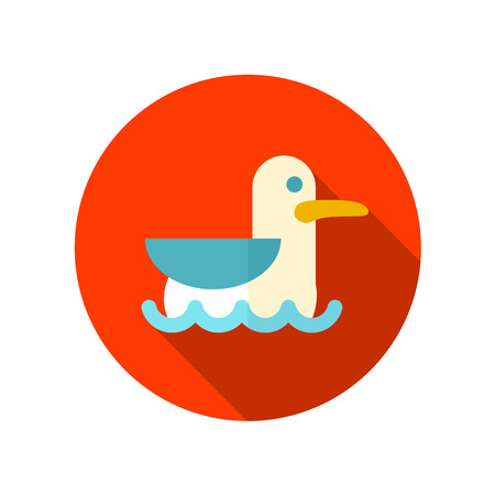 soar: Seagull flat icon with long shadow, eps 10
