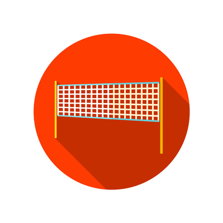 volleyball net: Volleyball net beach sport flat icon with long shadow, eps 10 Illustration