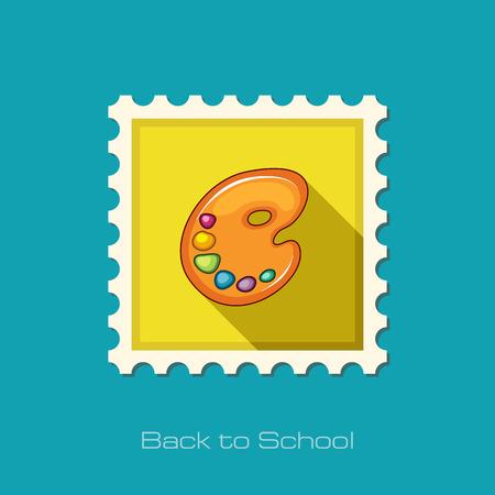 eps vector art: Art palette flat stamp, vector illustration eps 10