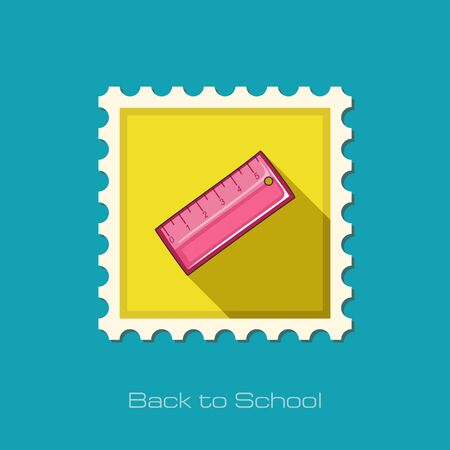 straightedge: Straightedge flat stamp, vector illustration eps 10 Illustration