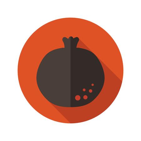 garnet: Garnet flat icon with long shadow, eps 10