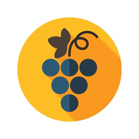 harvesting: Grapes flat icon with long shadow, eps 10