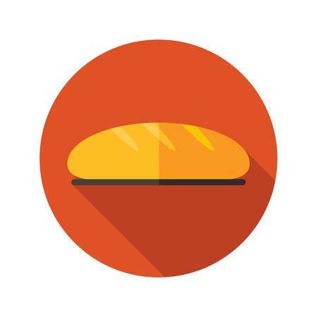 pain: Pain ic�ne plat avec ombre, eps 10
