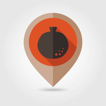 garnet: Garnet flat mapping pin icon, map pointer, vector illustration