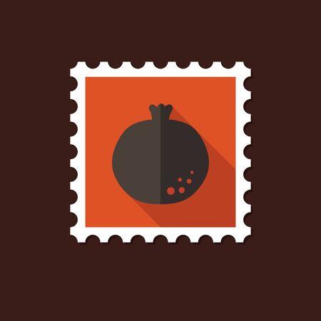 garnet: Garnet flat stamp with long shadow