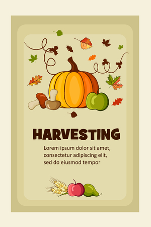 Rich Harvest vector flat banners set