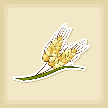 sheaf: Spikelets of wheat icon, Harvest Thanksgiving vector illustration, eps 10