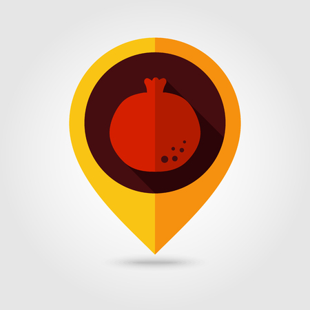 garnet: Garnet flat mapping pin icon, map pointer, vector illustration eps 10