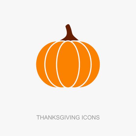 Pompoen pictogram, Harvest Thanksgiving vector illustratie, eps 10