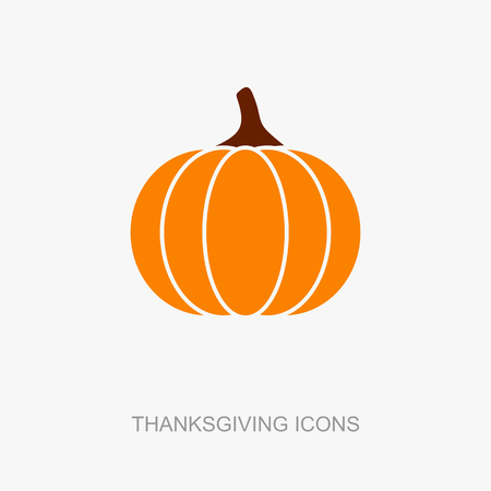 Pumpkin icon, Harvest Thanksgiving vector illustration, eps 10