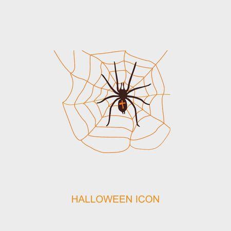 spider web: Spider web and spider halloween icon, vector illustration Illustration