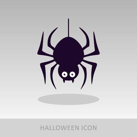 Spider halloween icon, vector illustration