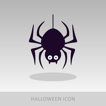 Spider halloween icon, vector illustration