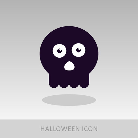 skull icon: halloween skull icon, vector illustration
