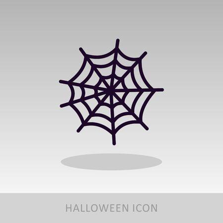 spider web: Spider web halloween icon, vector illustration  Illustration