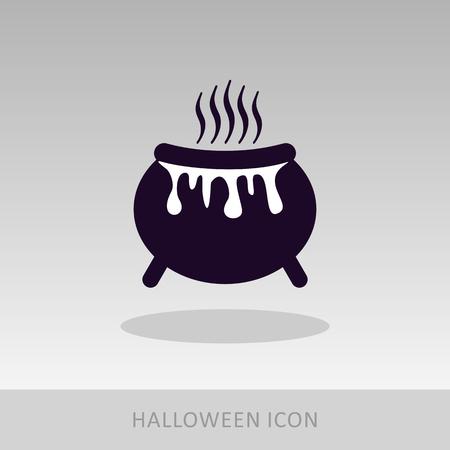 witchery: Halloween witch cauldron icon, vector illustration eps 10