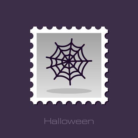 spider web: Spider web halloween stamp, vector illustration  Illustration