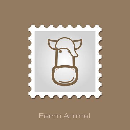 animal head: Horse stamp. Animal head vector illustration, eps 10 Illustration